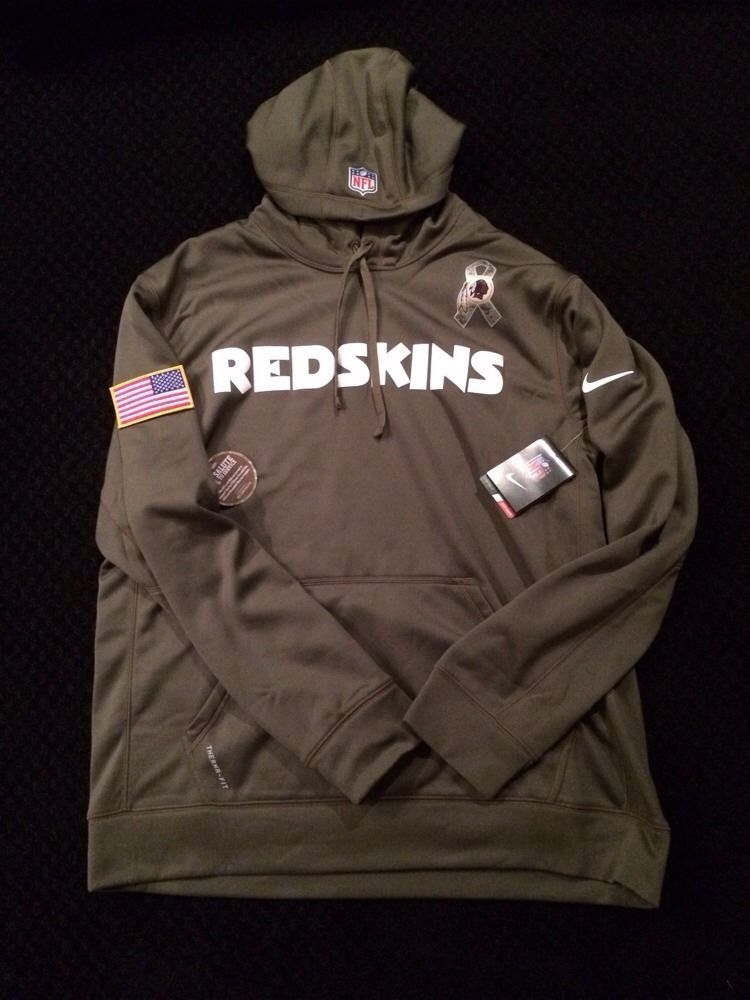 69d52dbef88 ... Nike Washington Redskins Salute to Service KO Pullover Performance  Hoodie - Olive ...