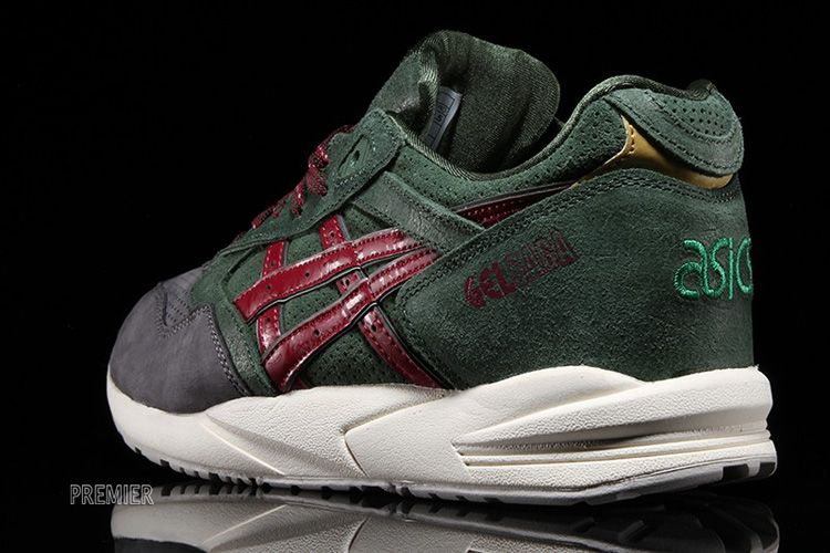 best sneakers 9f001 b9853 asics gel saga christmas pack dark green burgundy | Shoes ...