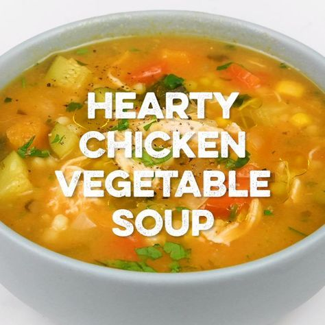 This hearty chicken vegetable soup is perfect for chilly days! Packed with veget…  Dinnerideas Site is part of Vegetable soup with chicken - This hearty chicken vegetable soup is perfect for chilly days! Packed with vegetables and easy to ma