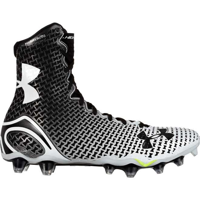 black and white under armour highlight cleats
