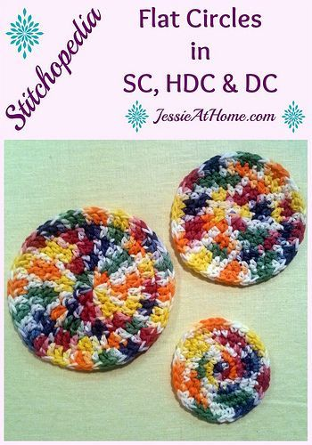 How to make a flat circle in single, half double, or double crochet