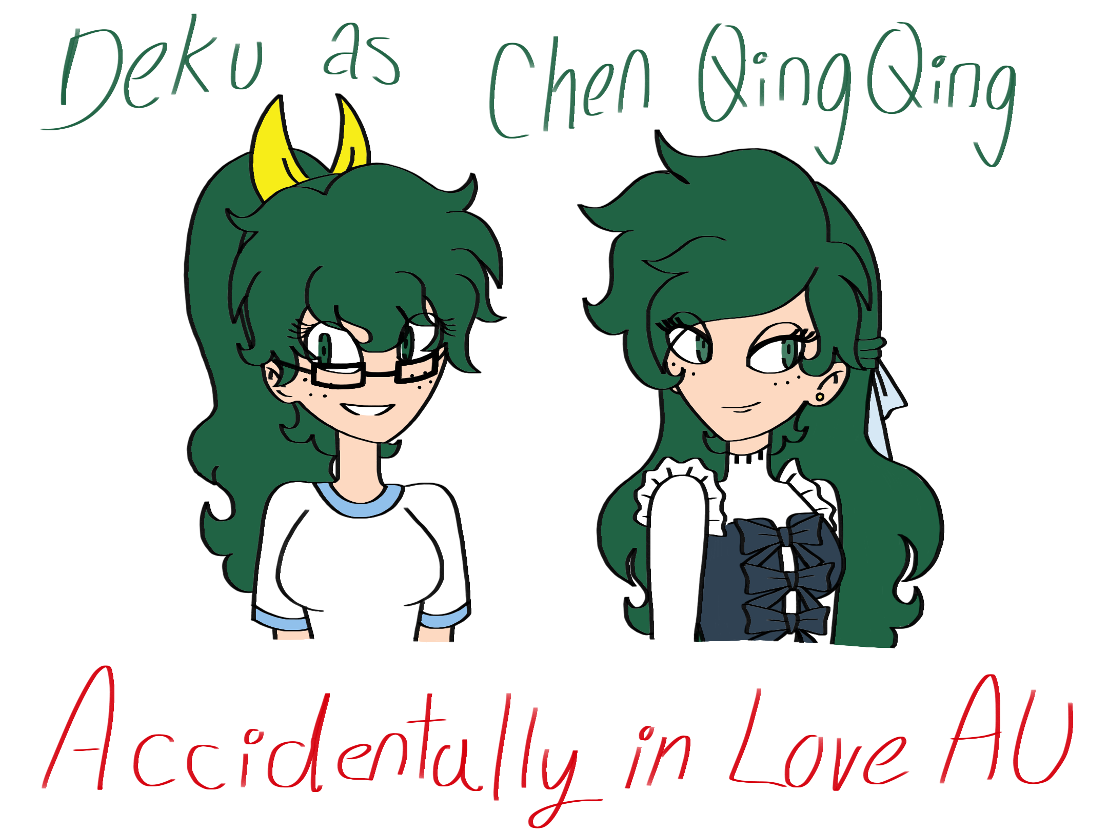 "Deku as Chen QingQing in the Chinese show ""Accidentally in"