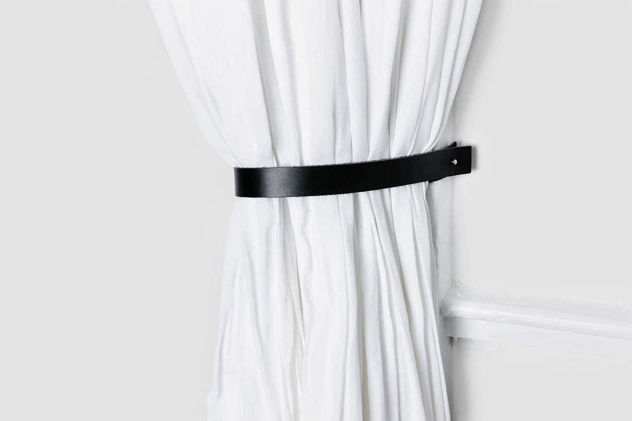 M Strap Curtains Curtain Ties Leather