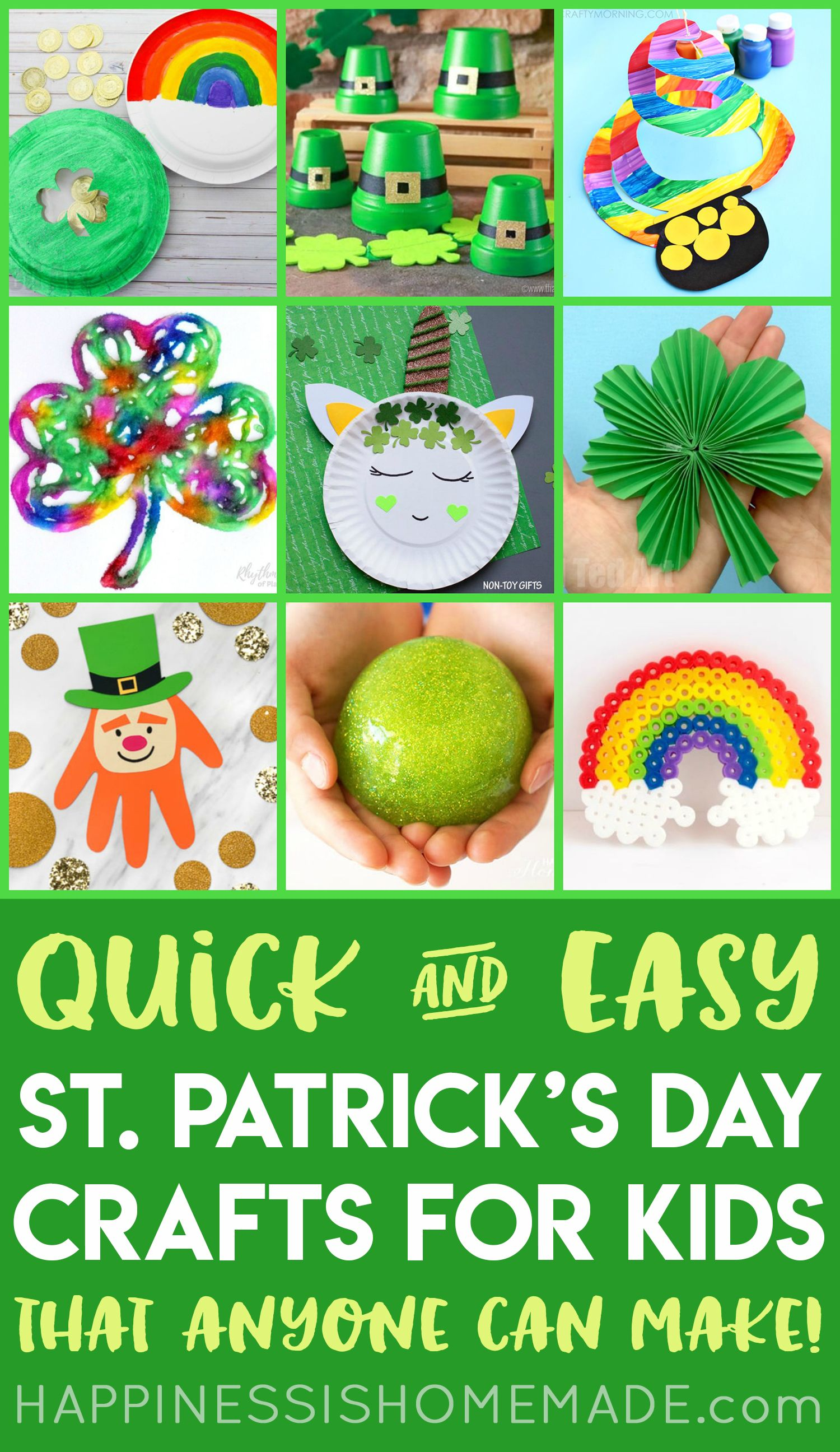 St Patrick S Day Kids Crafts Looking For Easy St