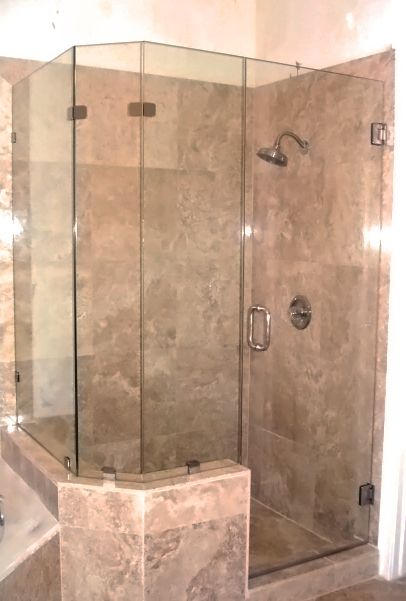 Bath Remodel Granite Bay Ca. This frameless shower door added the ...