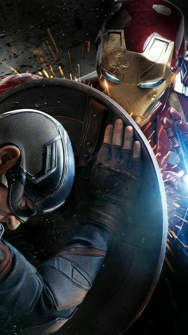 Civil War Captain America Vs Iron Man Comic Fan Art