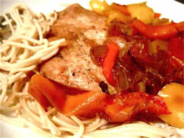 Love me some pork chops and peppers