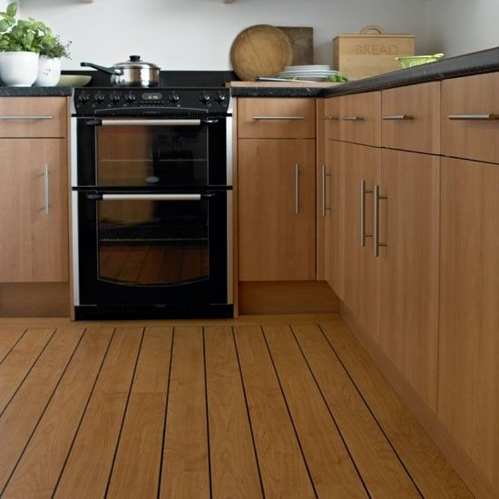 Maple Kitchen With Vinyl Flooring Ideas The For Wooden  Home Extraordinary Vinyl Flooring Kitchen Inspiration Design