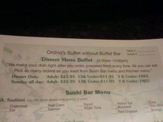 Orchid Japanese Restaurant Yelp Sushi Dinner Sushi Bar Menu Japanese Restaurant