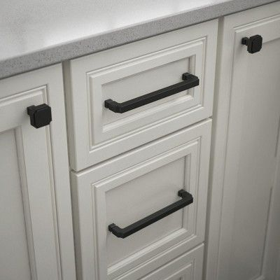 """Liberty P39072C-CP Notched 6-5/16"""" Center to Center Handle Cabinet Pull - Brushed Copper"""