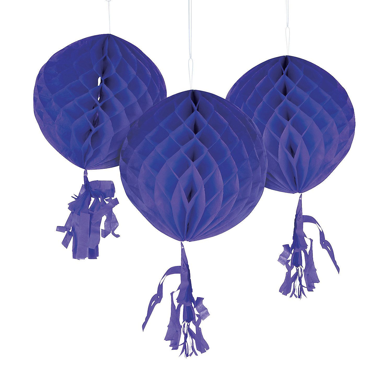 Purple+Honeycomb+Tissue+Balls+with+Tassel+-+OrientalTrading.com