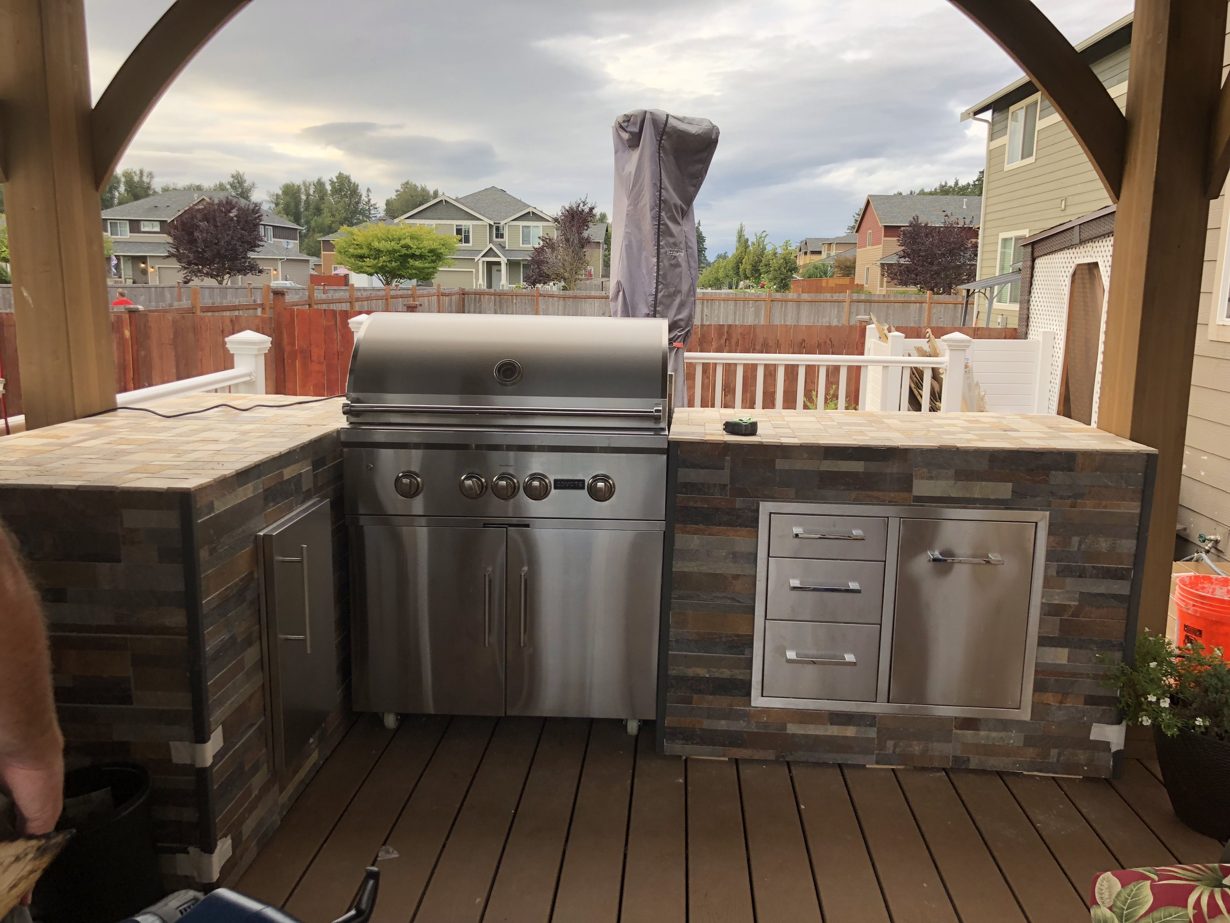 Our Outdoor Kitchen Area Put Under Gazebo From Costco Outdoor