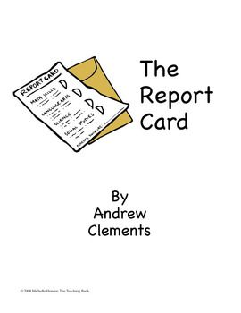 The Report Card Teaching Novel Unit ~Common Core Standards
