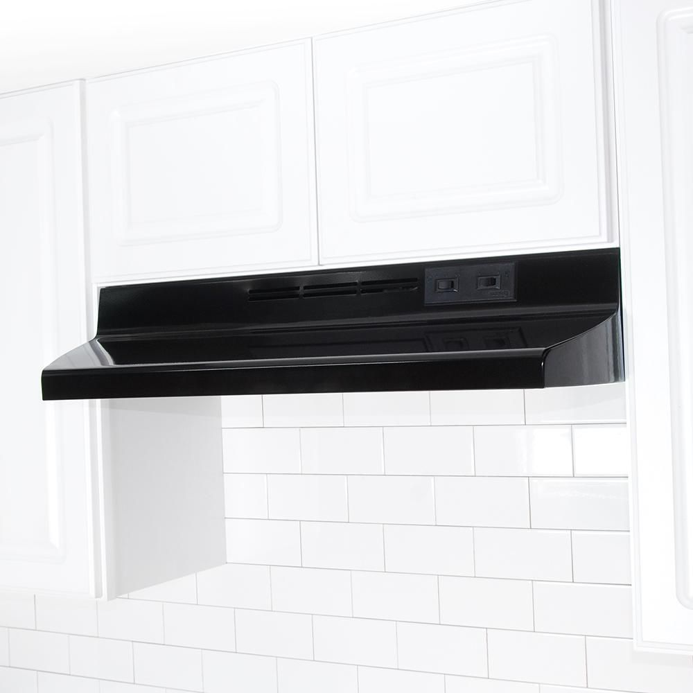 Air King Ad 30 In Under Cabinet Ductless Range Hood With Light In Black Ad1306 The Home Depot In 2020 Ductless Range Hood Range Hood Kitchen Range Hood