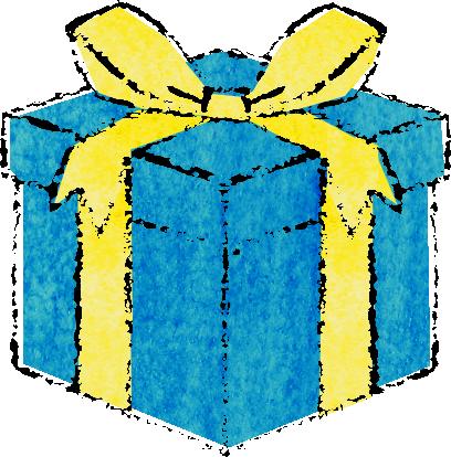 ギフト イラスト おしゃれ プレゼント箱イラスト手書き 誕生日用