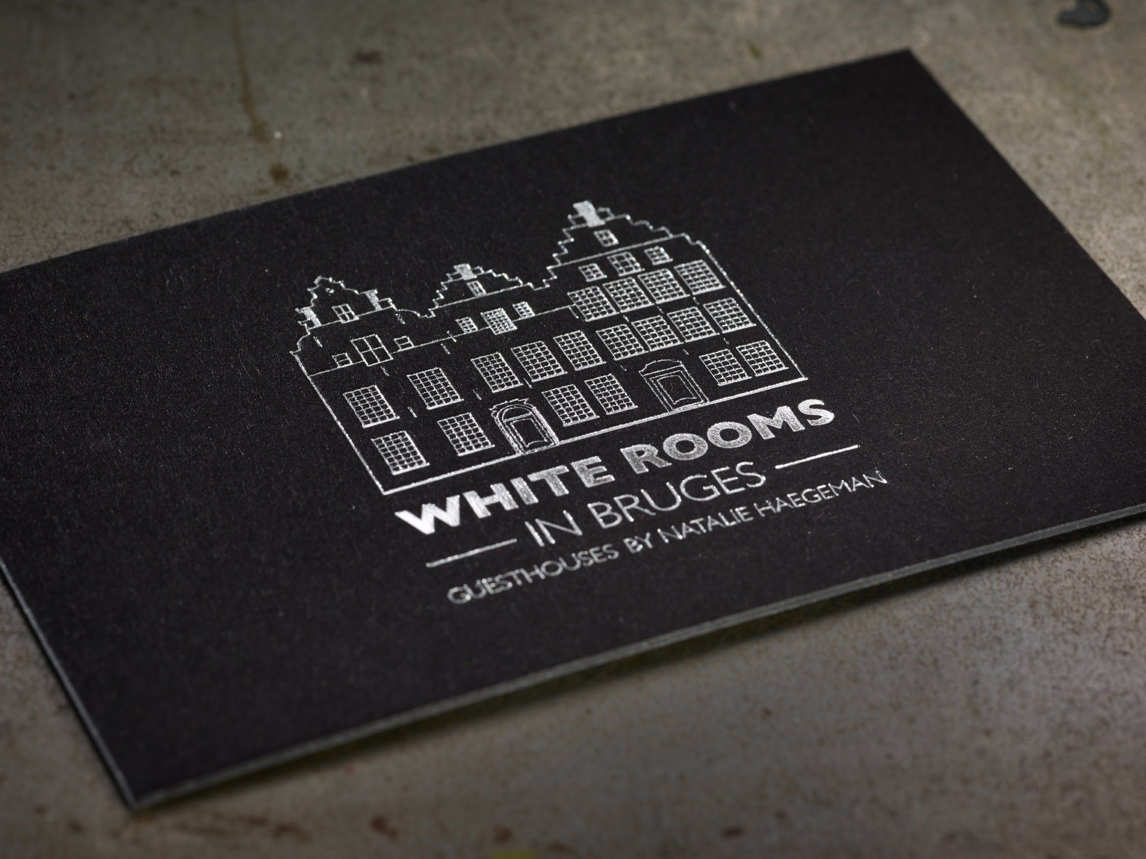 business cards white bruges