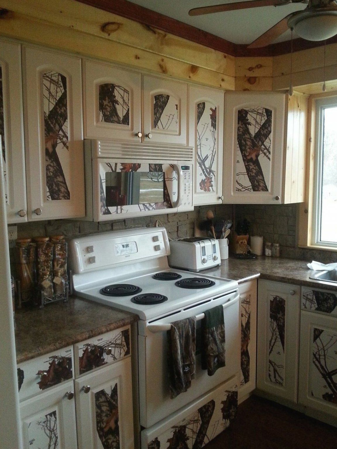 Camo Kitchen Almost Complete Easy Decorations Home Decor For Bedrooms Rustic Decor Wall D In 2020 Camo Home Decor Rustic Outdoor Kitchens Camo Living Rooms