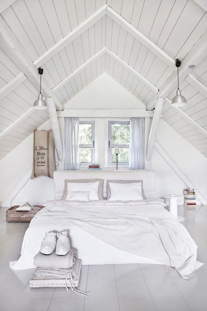 Modern Rustic Parwolki Masuria Home By Jam Kolektyw Attic Bedroom Designs Attic Bedrooms Bedroom Loft