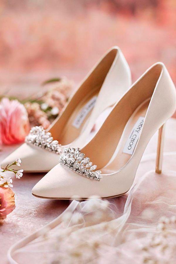 3731e632aba2 stylish with rhinestones white high heels comfortable wedding shoes jimmy  choo