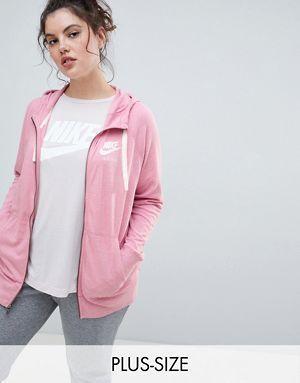 ba0e97121f3 Nike Plus Gym Vintage Full Zip Hoodie In Pink