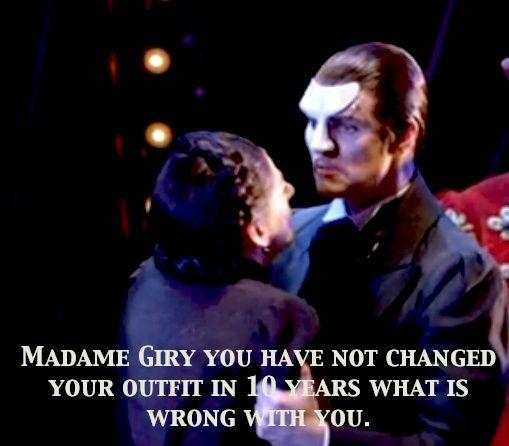 Love Never Dies Meg Giry Madame Giry Hahabroadway Lights Madame Giry Wtf Madame Phantom Phantom Of The Opera Love Never Dies Musical Opera Ghost