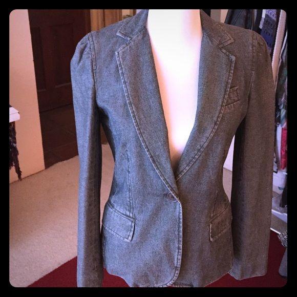 Marc Jacobs denim blazer Blue designer denim blazer Marc Jacobs Jackets & Coats Blazers