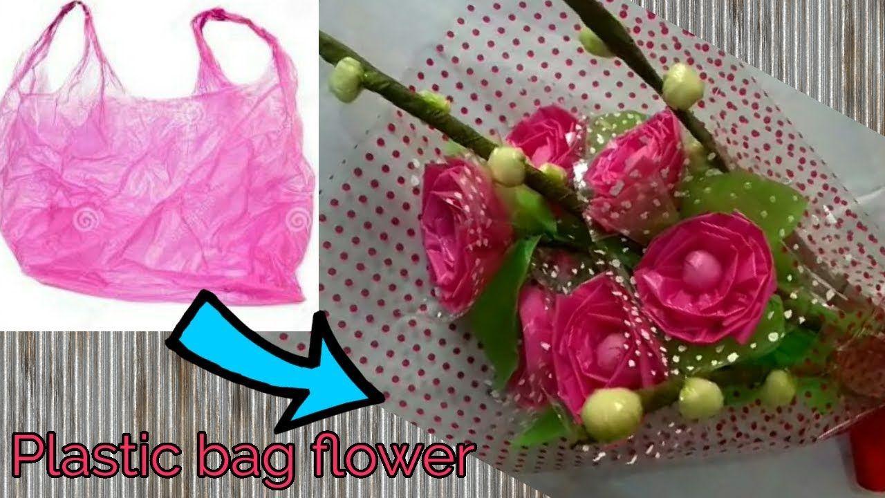 Diy Ii Waste Plastic Bag Flower Bouquet For Valentine S Day