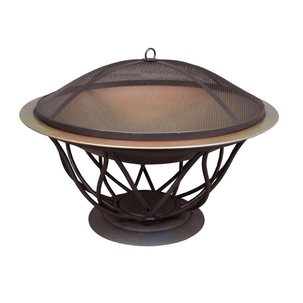 Copper Finish Bowl Fire Pit 25945 The Home Depot