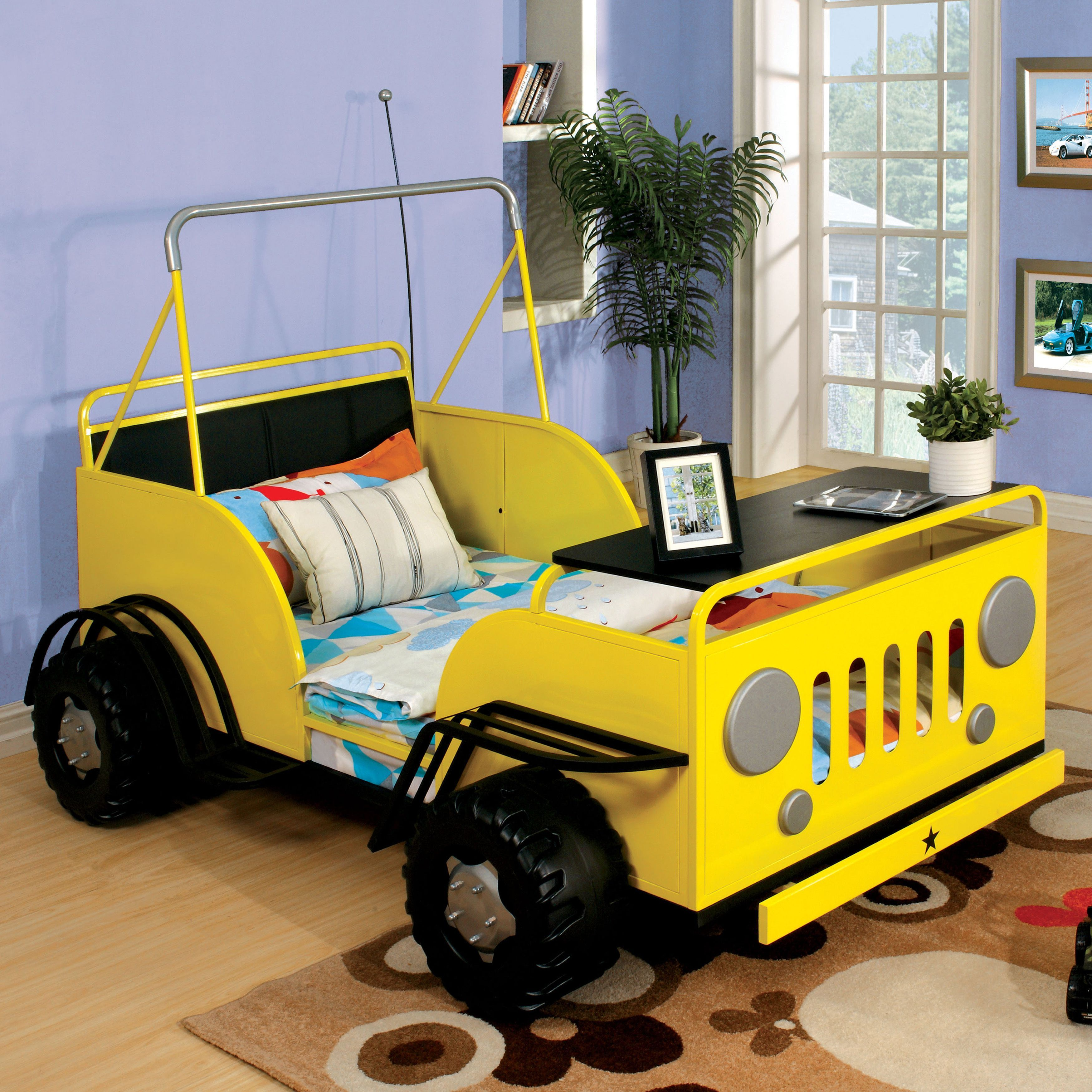 Furniture of America Goby Novelty Yellow Metal OffRoad