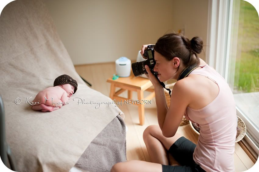Great baby pictures from home idea