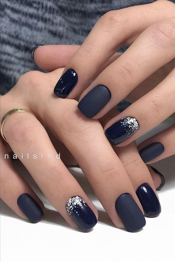 50 Hottest Natural And Lovely Short Square Nails For Spring Nails 2020 Fashion Girl S Blog In 2020 Nail Colors Winter Winter Nails Acrylic Elegant Nails