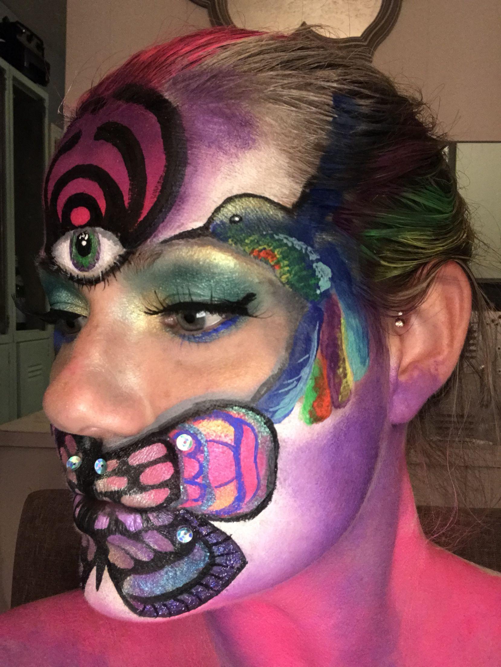 Bassnectar makeup Makeup by Katherine