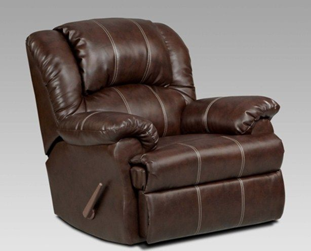 Upholstered In A Bonded Leather Brandon Brown Recliner Rocker For An Extra 299 Rocker Recliner Chair Chelsea Home Furniture Rocker Recliners