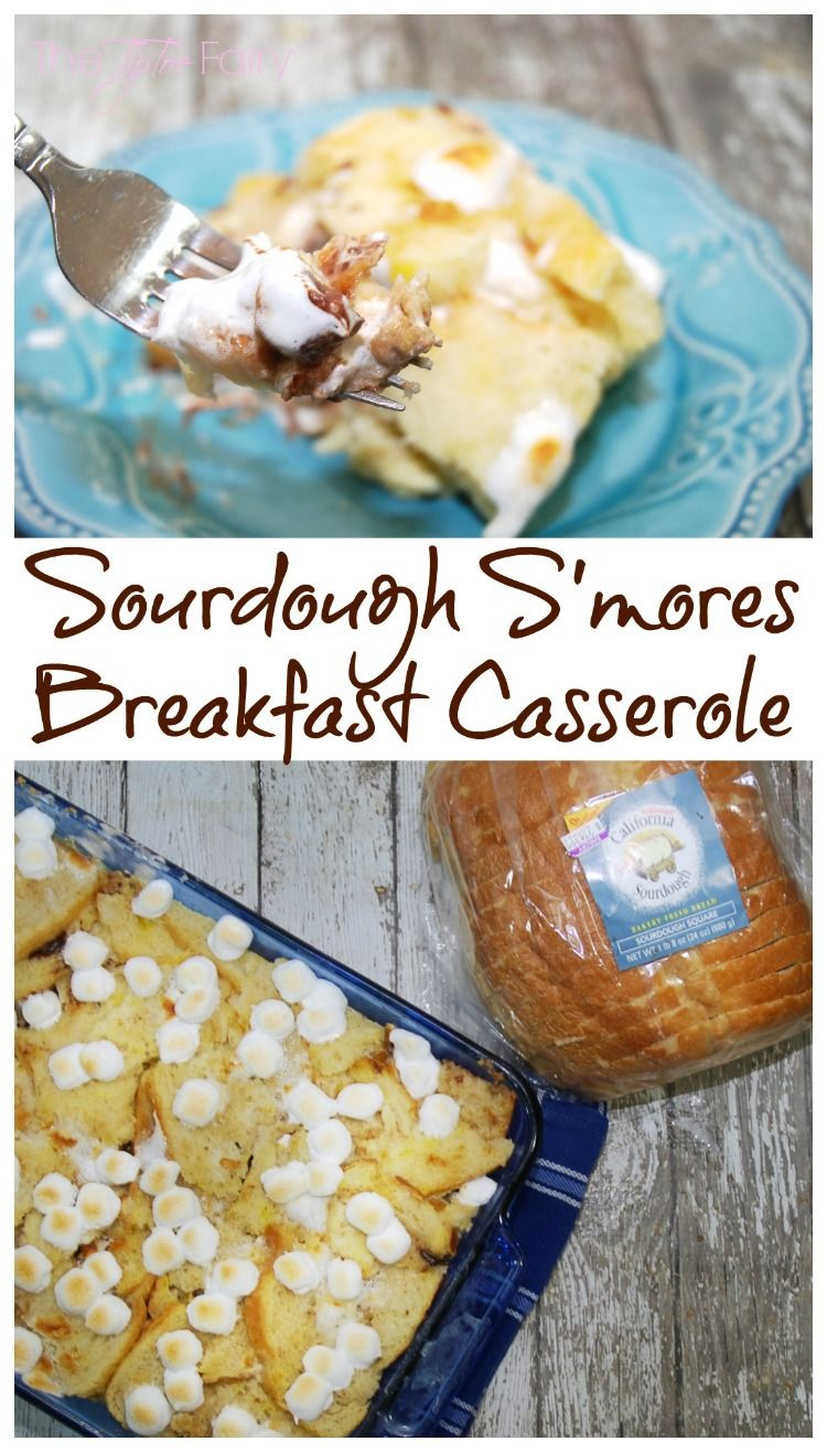 Do you love Sourdough bread? Come see how versatile it is for more than just sandwiches with my Sourdough S'mores Breakfast Casserole!