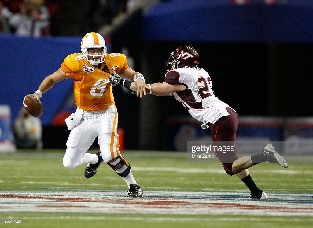 Linebacker Cody Grimm of the Virginia Tech Hokies sacks