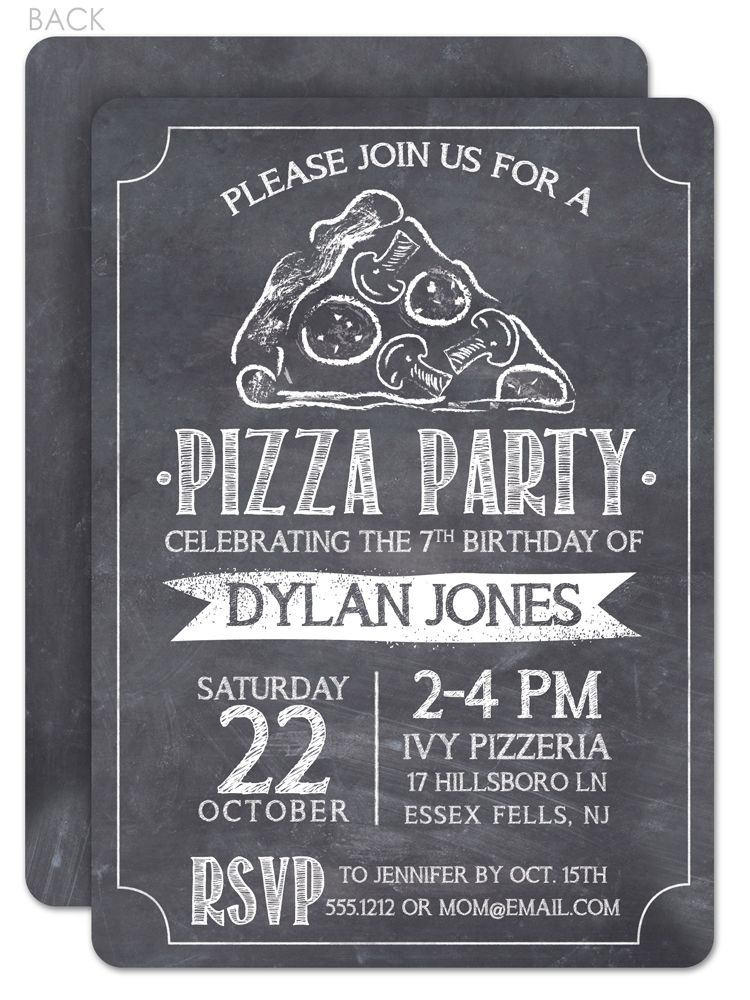 Chalkboard Pizza Party Invitation love that hand drawn slice of – Chalkboard Invitation