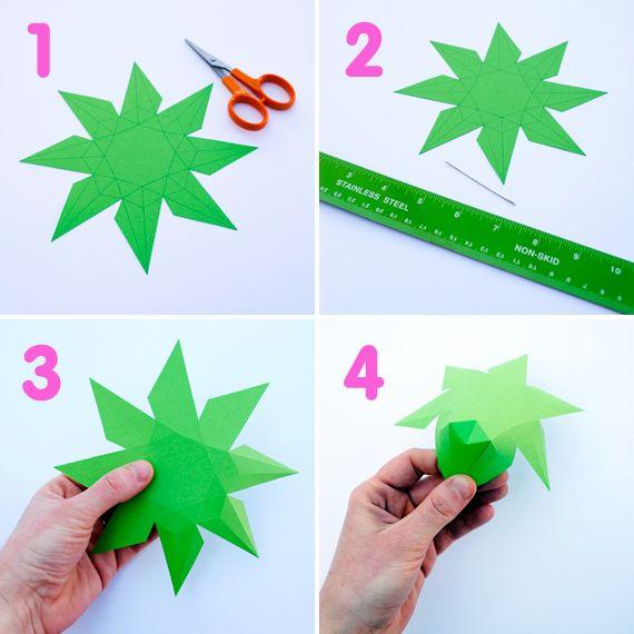 3D paper diamonds 3d paper, 3d and Diamond - loose leaf paper template