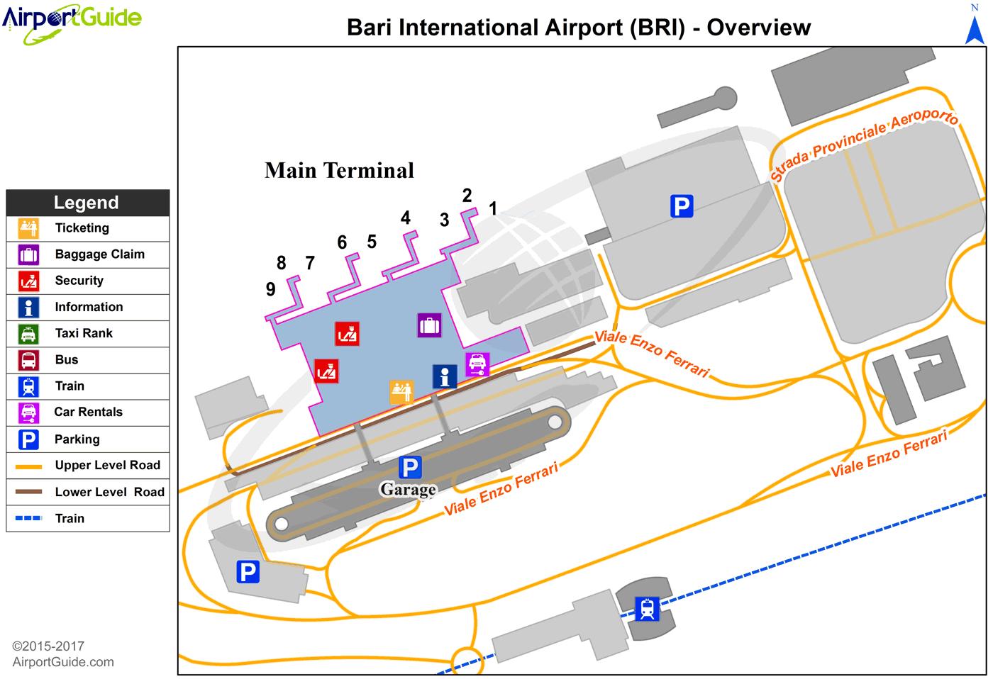 Bari Bari / Palese International (BRI) Airport Terminal
