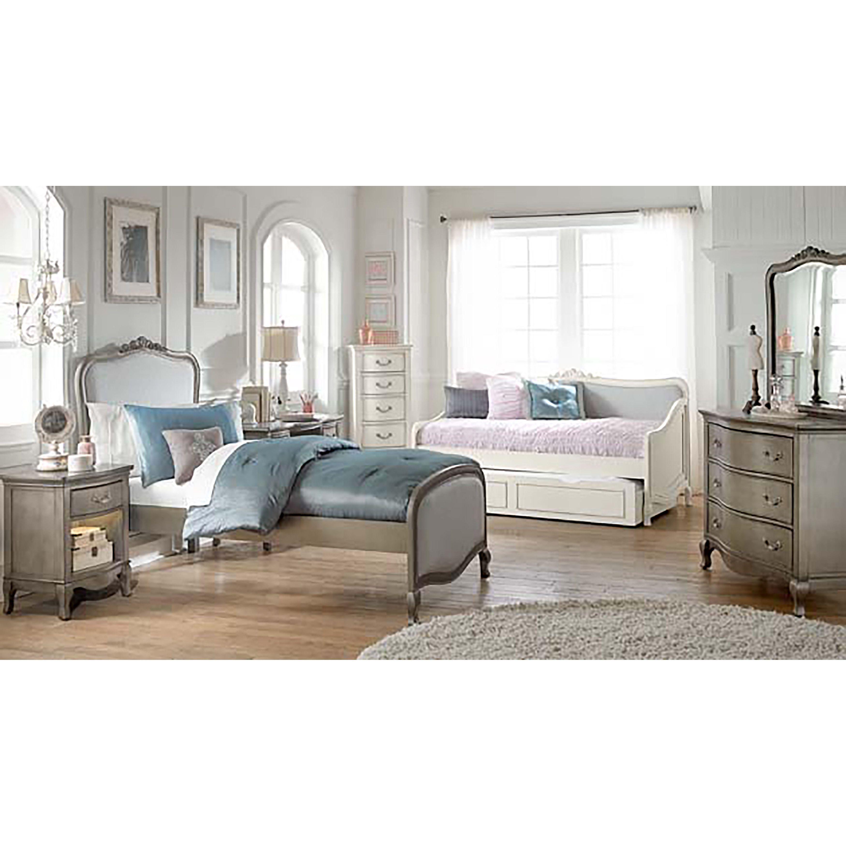Ne Kids Kensington Katherine Antique Silver Upholstered Twin Size