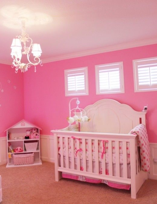 Baby Nursery Room With Pink Color 520x678 Pinkalicious S Design By Lara Mark