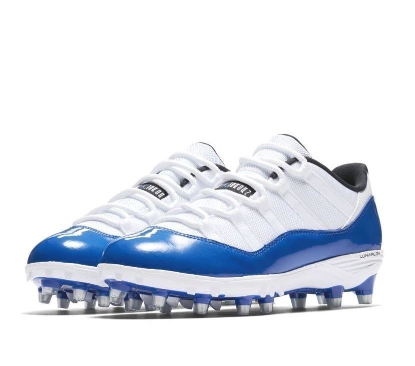 5f0bdb5a78e121 Jordan XI Retro Low TD Mens Football Cleats 11 White Game Royal  Jordan   FootballShoes