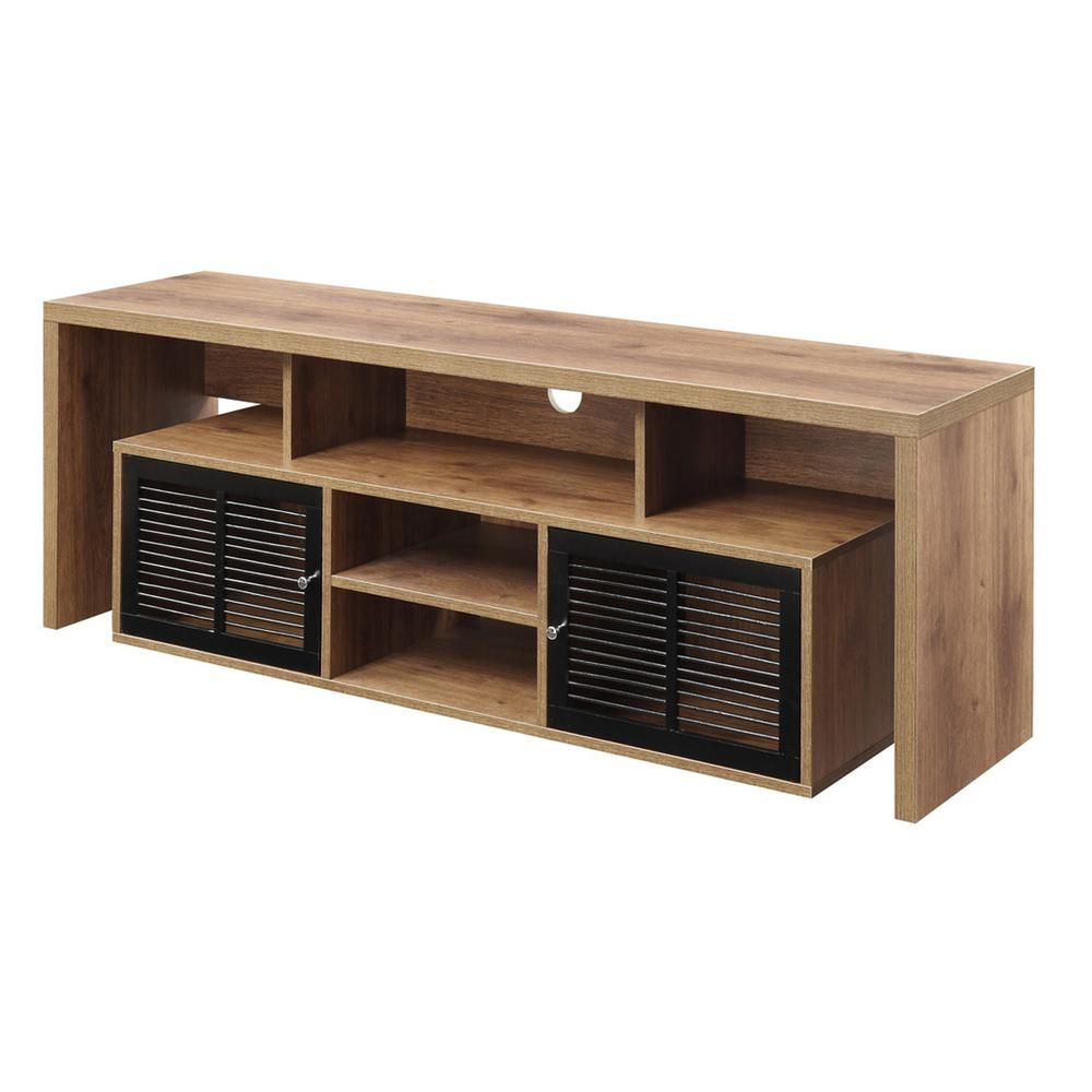 Convenience Concepts Lexington 59 In Mocha Particle Board Tv Stand Fits Tvs Up To 62 In With Storage Doors R4 0166 The Home Depot Tv Stand Brown Convenience Concepts 60 Inch Tv Stand