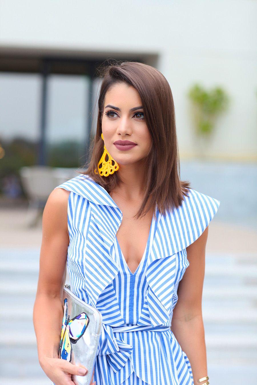 120a0b340 Look do Dia: Listras e Babados | Mix estampas | Camila coelho cabelo ...