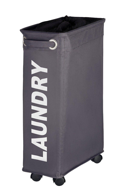 Wenko corno laundry basket with spacesaving design