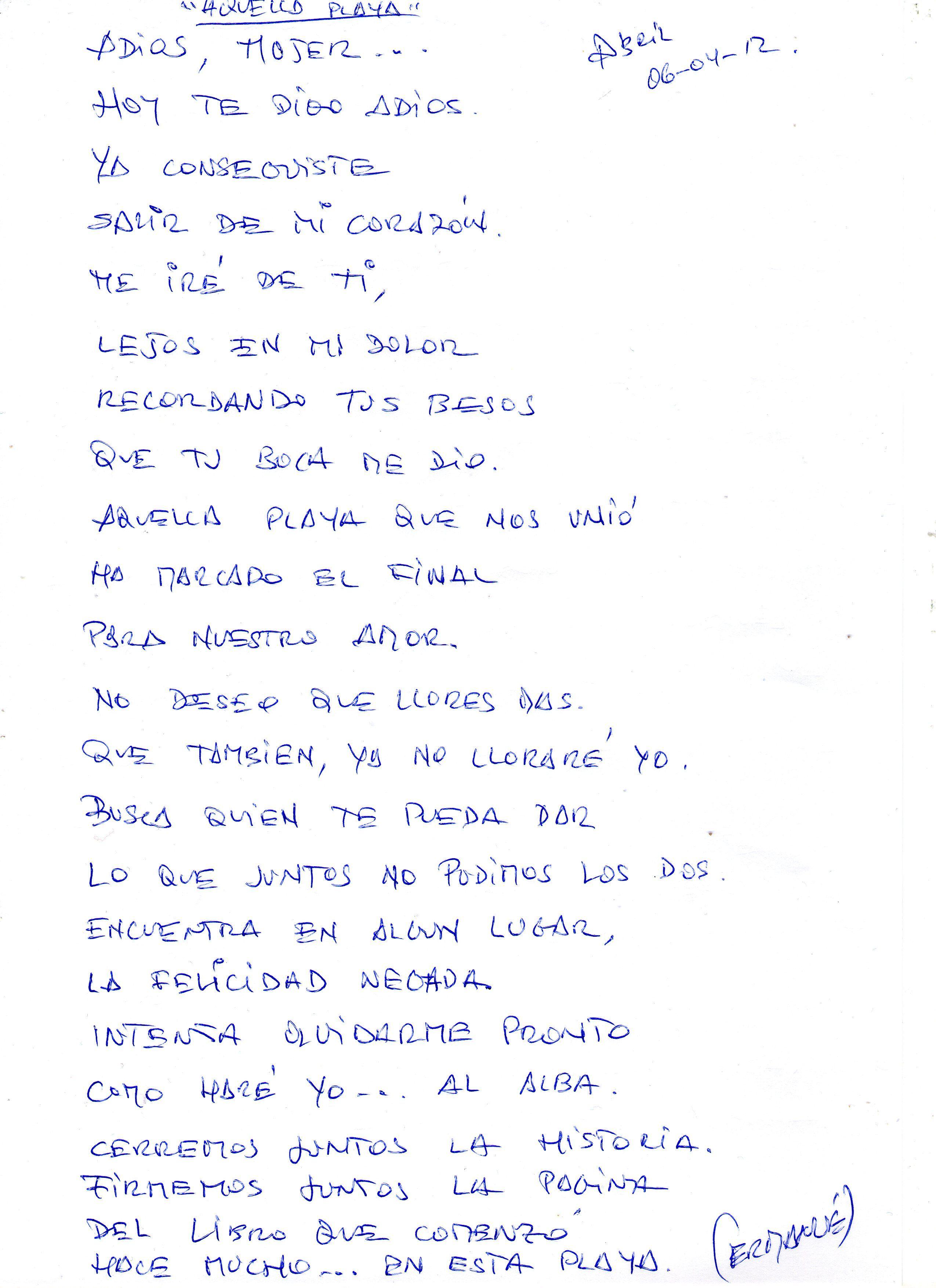 Poema de mi puño y letra