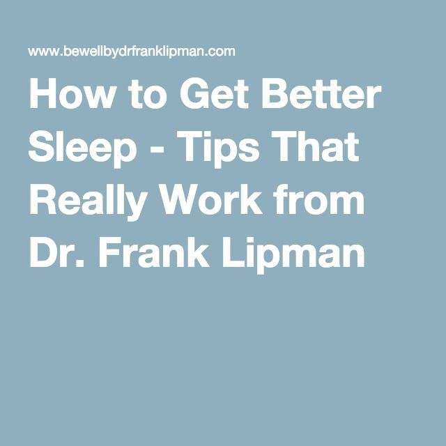 How to Get Better Sleep - Tips That Really Work from Dr. Frank Lipman