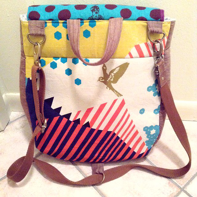 Sew Scatterbrained: Super Tote Pattern Mod: Convertible Backpack ...