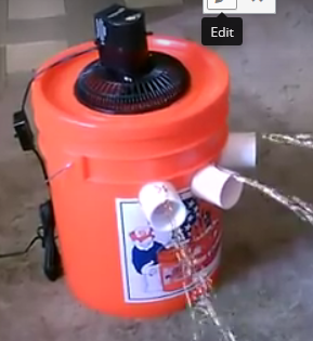 Video How To Make This Kickass 5 Gallon Bucket Air Cooler Die Hard Survivor Bucket Air Conditioner Portable Air Conditioners Diy Air Conditioner