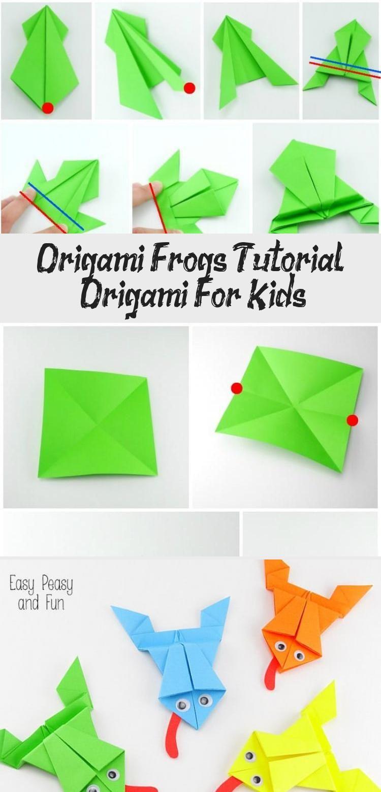 Photo of Origami Frösche Tutorial – Origami für Kinder #origamiPlane #origamiFrog #origamiBag …