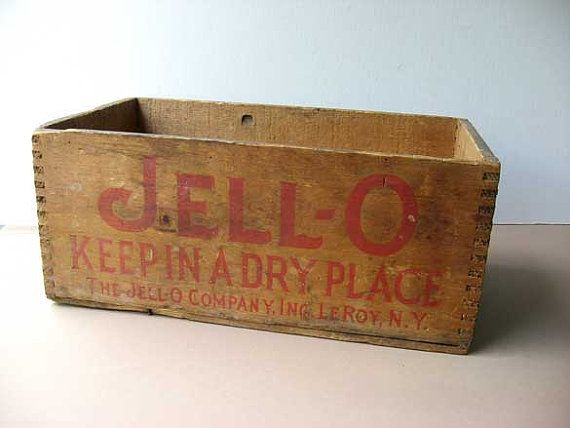 Antique Vintage 1915 Jell O Wooden Advertising Box Advertising On 4